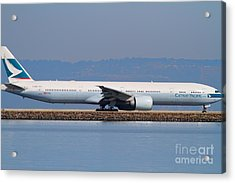 Cathay Pacific Airlines Jet Airplane At San Francisco International Airport Sfo . 7d11882 Acrylic Print by Wingsdomain Art and Photography