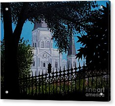 Cathedral At The Square Acrylic Print