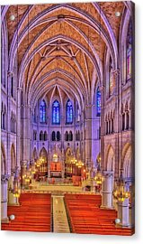 Acrylic Print featuring the photograph Cathedral Basilica Of The Sacred Heart Newark Nj II by Susan Candelario