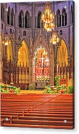 Acrylic Print featuring the photograph Cathedral Basilica Of The Sacred Heart Newark Nj by Susan Candelario