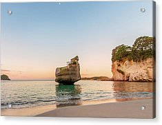 Cathedral Cove, New Zealand Acrylic Print
