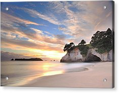 Cathedral Cove Acrylic Print by Photography By Anthony Ko