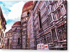Acrylic Print featuring the photograph Cathedral In Rome by Linda Constant