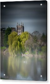 Cathedral In The Mist Acrylic Print