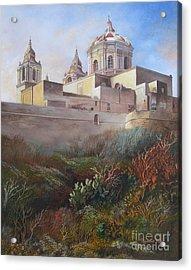 Cathedral Mdina Acrylic Print by Raymond Frans