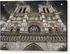 Cathedral Notre Dame Of Paris. France   Acrylic Print