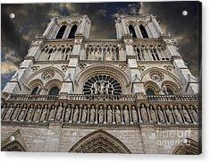 Cathedral Notre Dame Of Paris. France   Acrylic Print by Bernard Jaubert
