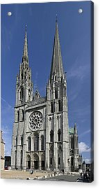 Cathedral Of Chartres Acrylic Print by Gary Lobdell