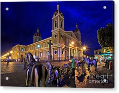 Cathedral Of Granada Shines Brightly Acrylic Print