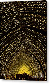 Cathedral Of Light - Vivid Sydney Acrylic Print