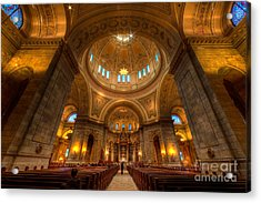 Cathedral Of St Paul Wide Interior St Paul Minnesota Acrylic Print