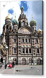 Cathedral Of The Spilled Blood C258 Acrylic Print by Charles  Ridgway
