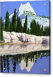 Acrylic Print featuring the painting Cathedral Peak by Frederic Kohli
