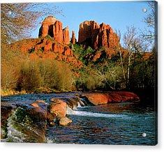 Cathedral Rock At Redrock Crossing Acrylic Print by Crystal Garner