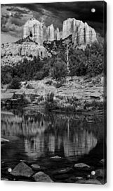 Cathedral Rock Black And White Number Seven Acrylic Print