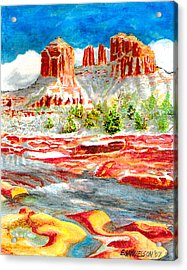 Cathedral Rock Crossing Acrylic Print by Eric Samuelson
