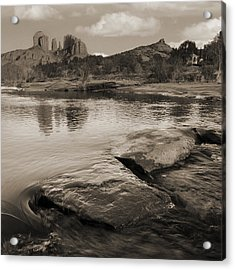 Cathedral Rock Flow Acrylic Print by Bob Coates