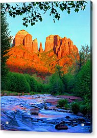 Cathedral Rock Acrylic Print by Frank Houck