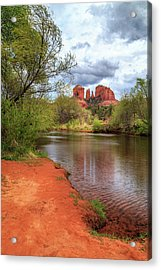 Acrylic Print featuring the photograph Cathedral Rock From Oak Creek by James Eddy