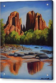 Cathedral Rock Acrylic Print by Michael McGrath