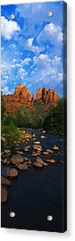 Cathedral Rock Oak Creek Red Rock Acrylic Print by Panoramic Images