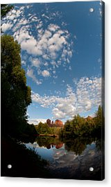 Cathedral Rock One Acrylic Print by David Sunfellow