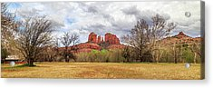 Acrylic Print featuring the photograph Cathedral Rock Panorama by James Eddy