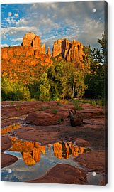 Cathedral Rock Reflection Acrylic Print by Guy Schmickle