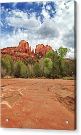 Acrylic Print featuring the photograph Cathedral Rock Sedona by James Eddy