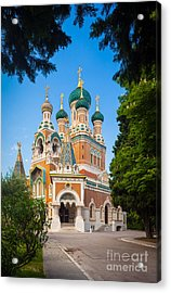 Cathedral Russe Acrylic Print by Inge Johnsson