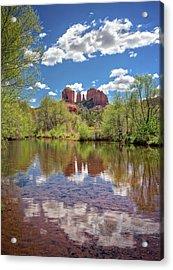 Catherdral Rock And Reflection - Sedona #2 Acrylic Print