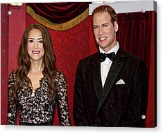 Acrylic Print featuring the photograph Catherine And Prince William by Miroslava Jurcik