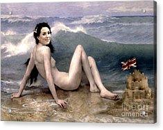 Catherine Duchess Of Cambridge Nude  Acrylic Print by Karine Percheron-Daniels