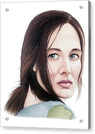 Acrylic Print featuring the drawing Catherine Mccormack  by Danielle R T Haney
