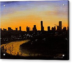Acrylic Print featuring the painting Catherine's Sunrise by Jack Skinner