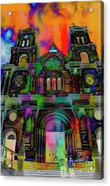 Acrylic Print featuring the photograph Catholic Church At Chordeleg, Ecuador by Al Bourassa