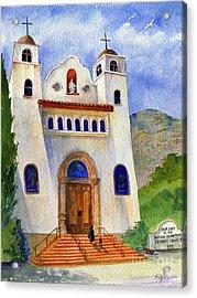 Catholic Church Miami Arizona Acrylic Print by Marilyn Smith