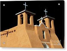 St Francis De Assi Church  New Mexico Acrylic Print by Bob Christopher