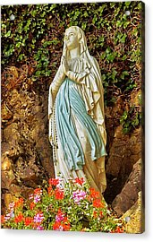 Catholic Nun Acrylic Print by Elf Evans