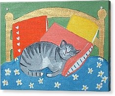 Catnap Acrylic Print by Christine Quimby