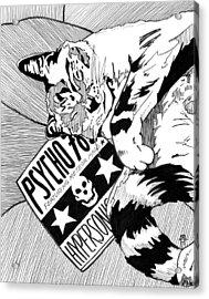 Catnap Acrylic Print by Matthew Howard