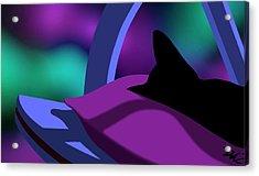 Acrylic Print featuring the digital art Catnip by Tom Dickson