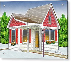 Catonsville Santa House Acrylic Print by Stephen Younts