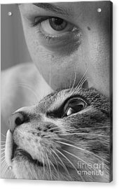 Cat's Eyes Acrylic Print by Michael Canning