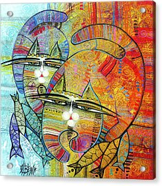 Cat's Paradise Acrylic Print