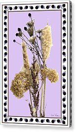 Acrylic Print featuring the digital art Cattails And November Flowers by Lise Winne