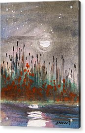 Cattails And Stars Acrylic Print by John Williams