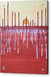Cattails Original Painting Sold Acrylic Print