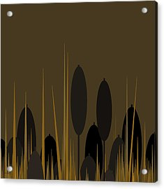 Cattails Acrylic Print by Val Arie