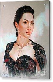 Catthaleeya Acrylic Print by Chonkhet Phanwichien